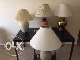 Table lamps ,Cot