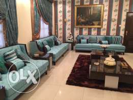 Deluxe Luxury Sky Blue Sofa Set