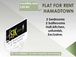 Flat for rent Hamadtown