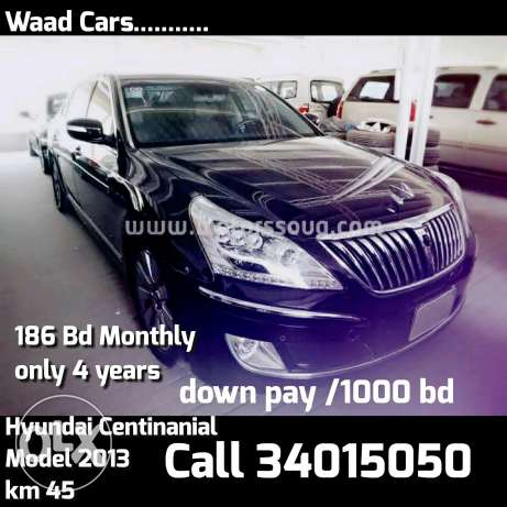 Easy get it your lexury cars for loans Hyundai centinial 2013 Model .