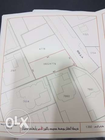 Land for sale in Sanad The area is upscale and quiet Area: 340.9 m Cat