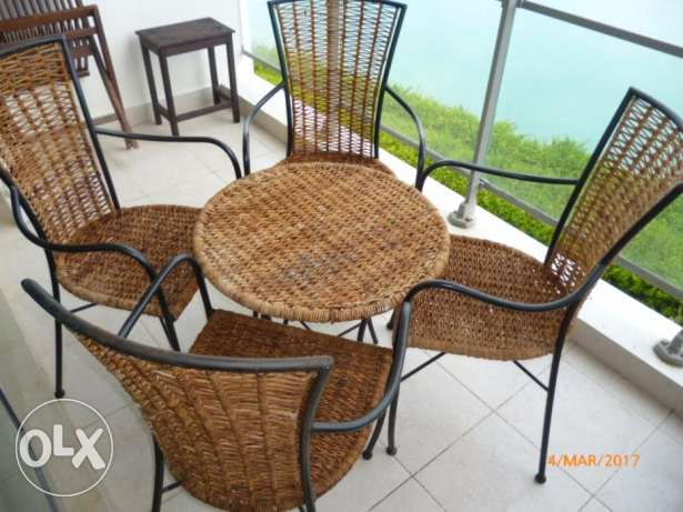 Table and 4 Chairs for Garden