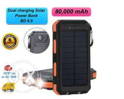 high power splash proof solar power bank 80,000 mah