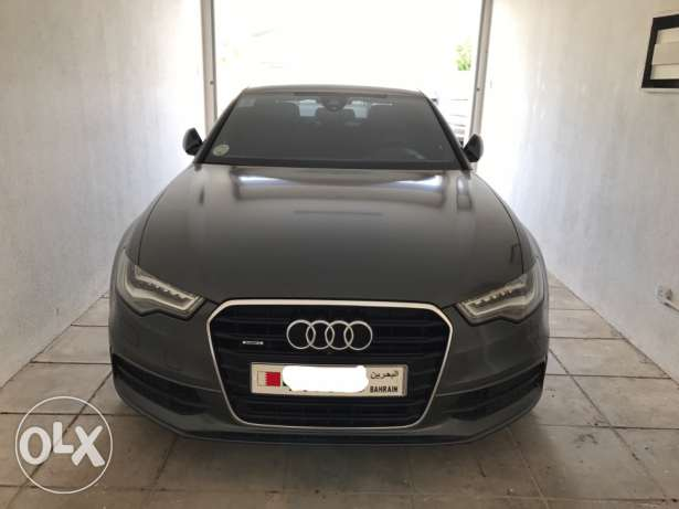 2012 Audi A6 3.0T 48k km grey exterior/ black + red accents interior