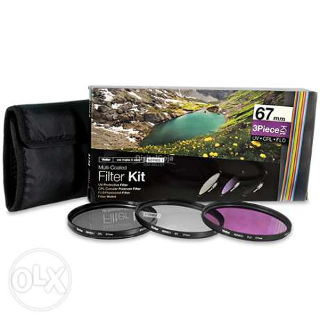 Vivitar 67mm Filter Kit UV CPL FLD for Canon - Nikon & Sony Brand New