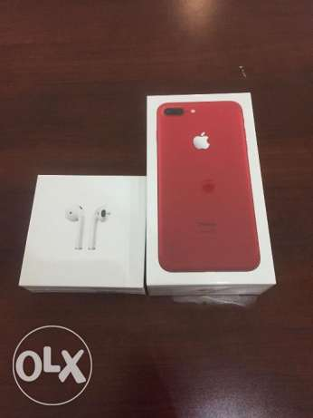 Unlocked view iphone 7 plus red 128gb with box all