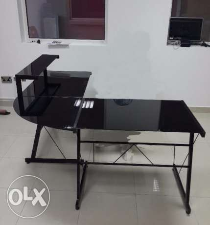 Office PC Table L-Shape With Drawers