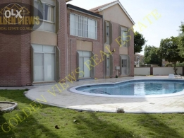 4 BR semi furnished villa with p.pool,garden,excellent facility
