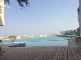 Sea side sea view 5 bedroom compound villa available at amwaj island