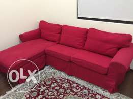 ikea sofa & footstool
