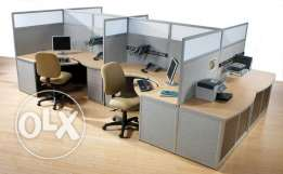 Office with partitions for rent in Seef Area. Ref: MPM0034