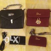 For sale brand new Bag and Wallet (Bvlgari and Dior) price 20 BD each