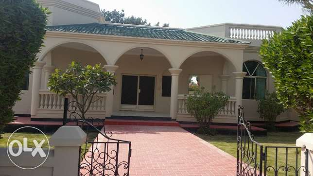 semi furnished villa with huge garden