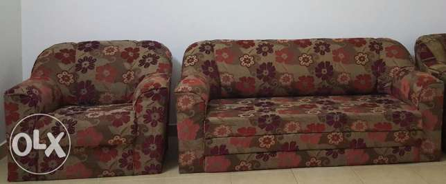 Sofa Set 3+1 Best condition immediate for sale.owner leaving Bahrain