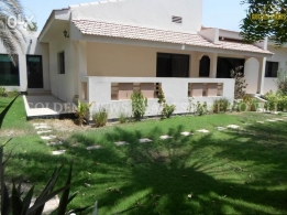 5 Bedroom semi furnished villa with large private garden,pool,exc