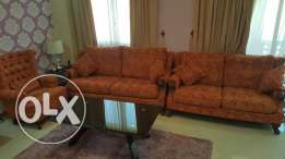 Six seater sofa plus coffee table (urgent sale)