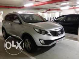 KIA Sportage 2.4Ltr (All Wheel Drive) 2013 Silver for Sale(40,000 kms)