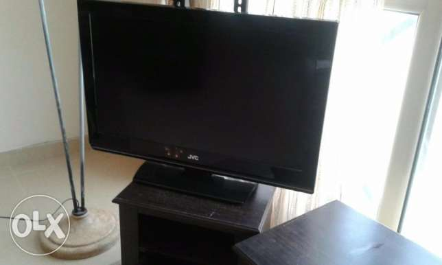 "31"" JVC TV with wall brackets"