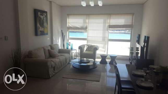 "2br""(sea view) flat for rent in amwaj island"