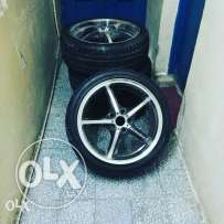 Sports Rims with Tyres for sale
