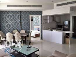 Fully furnished and elegant one-bedroom apartment.