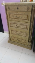 Chast drawers excellent condition. One pices sofa set very good condit