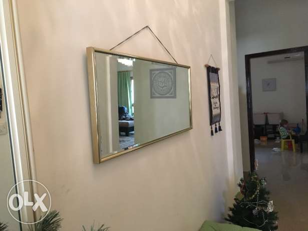Mirror in Gold Frame - 42cm x 92cm