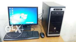 """COMPUTER SET PC with 19"""" wide LCD MONITOR/ keyboard, mouse\ DVD writer"""