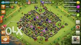 Clash of clan TownHall 9 max