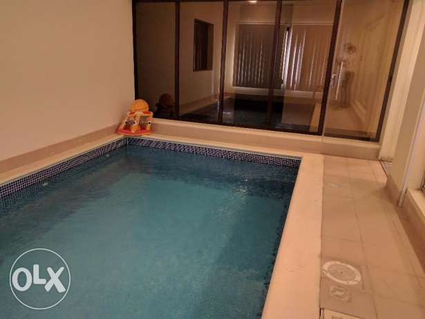 2 Bedroom fully furnished villa with private pool at Busaiteen