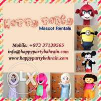 Mascot Rentals for Birthdays and Parties