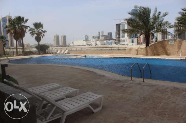 In Seef wonderful 2 BR Sea view, Maids room, Balcony