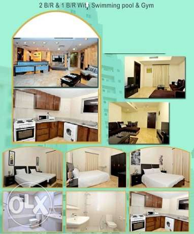 Brand new modern 1 Br full furnish apmt at Juffair BD. 350/- Inc جفير -  1
