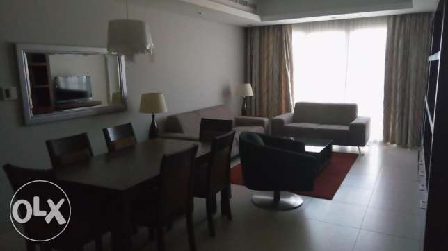2 BR Furnished Apartment in Amwaj in Luxury Building Seas View