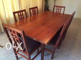 Dinning set (table, console & 6 chairs)