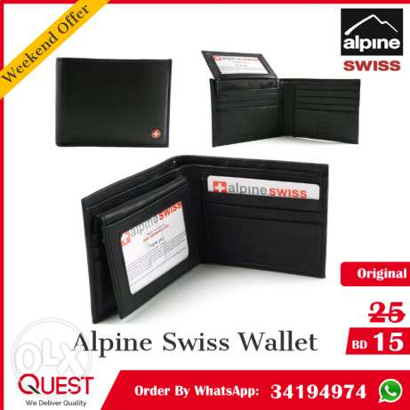 Original Alpine Swiss Wallet