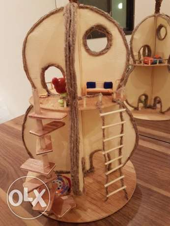 wooden pear doll house