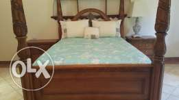 A beautiful bed with mattress
