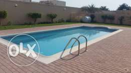 Villas for Rent semi furnished villa with private pool close to Saudi causeway