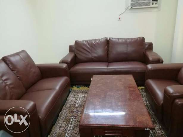 Excellent condition sofa set with marble table,