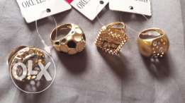 Rings gold plated