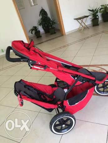 Phil and Teds Sport Double Stroller – Red.