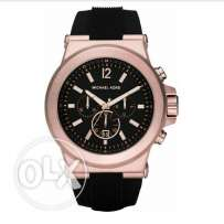 Michael Kors rose gold rubber band unisex original watch for sale.