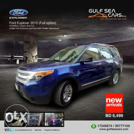 Ford Explorer 2013 (blue) For Sale