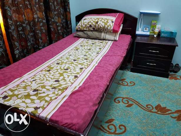 2 single beds with side table URGENT sale