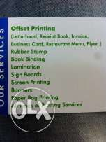 We r doing all kind of printing works