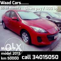 Easy get it cars for loans Mazda 3 2013 model low mileage