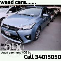 Easy to get loan to ladies for hatchpack cars. Toyota yaris 2015 model