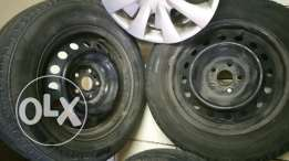 Toyotta Corolla Rims with Tyers