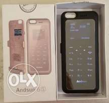 Iphone 6,6s Mobile Charge Case & Single Sim & M.Card.